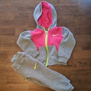 Girls Nike Matching Hoodie and Pants Set